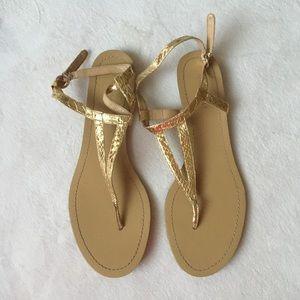Nine West Gold Sandals